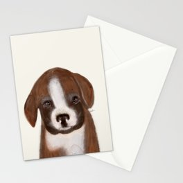 little boxer Stationery Cards