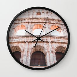Roman Colosseum | Europe Italy Rome Architecture Ancient Ruins City Photography Wall Clock