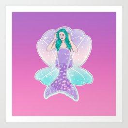 Mermaid Gradient Art Print