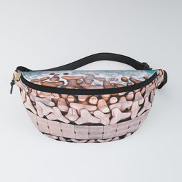 on the sea wall Fanny Pack