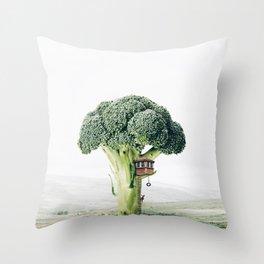 Broccoli House Throw Pillow