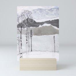 Winter Alps Mini Art Print
