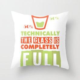 scientist optimist pessimist glass gift Throw Pillow