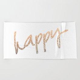 GOLD HAPPY Beach Towel