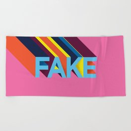 FAKE Beach Towel