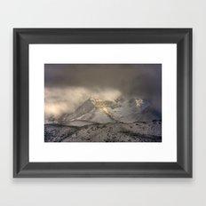 the mountain speaks to me Framed Art Print