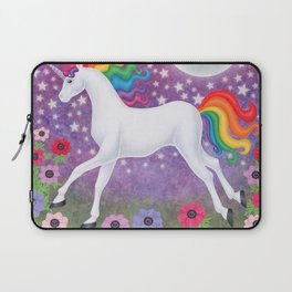 wanderlust (rainbow unicorn), moon and stars, anemone Laptop Sleeve