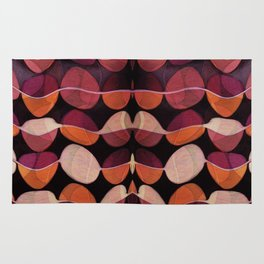 """Retro Rose Petals Abstract painting"" Rug"