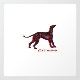 Greyhound Dog | Animal Art Design Art Print