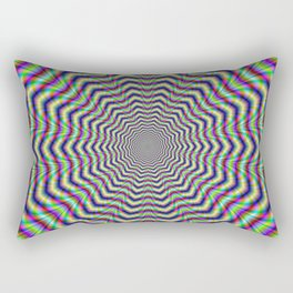 Psychedelic Web Star Rectangular Pillow