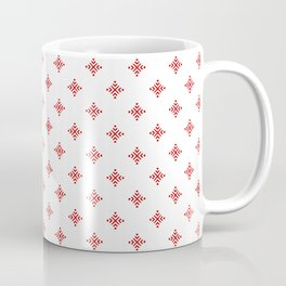 Christmas Heart Snowflakes Red & White Coffee Mug