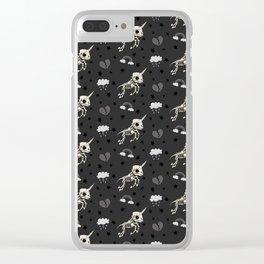 Skeleton Unicorn Clear iPhone Case