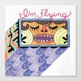 I'm Flying! Canvas Print