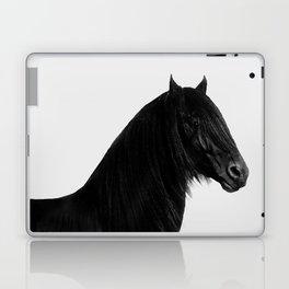 Black beauty Friesian stallion Laptop & iPad Skin