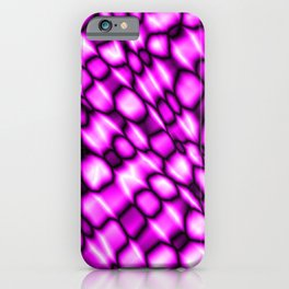Remains of harmful vapors of the strawberry mesh from dark cracks on the glass. iPhone Case
