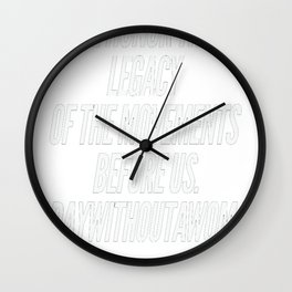 A day without a woman 3 Wall Clock