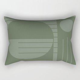 Monochromatic sun (green) Rectangular Pillow