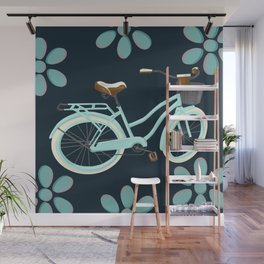 My Bike Floral Wall Mural