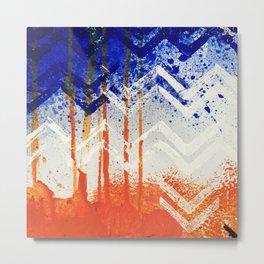 Abstract Orange Metal Print