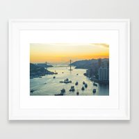 hong kong Framed Art Prints featuring Hong Kong by Rothko