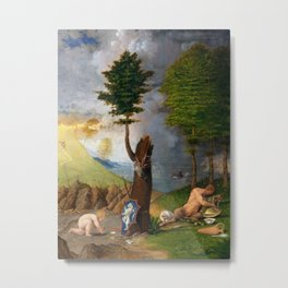 Lorenzo Lotto - Allegory of Virtue and Vice Metal Print