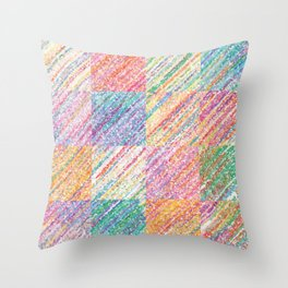 Delightful Spectrum Throw Pillow
