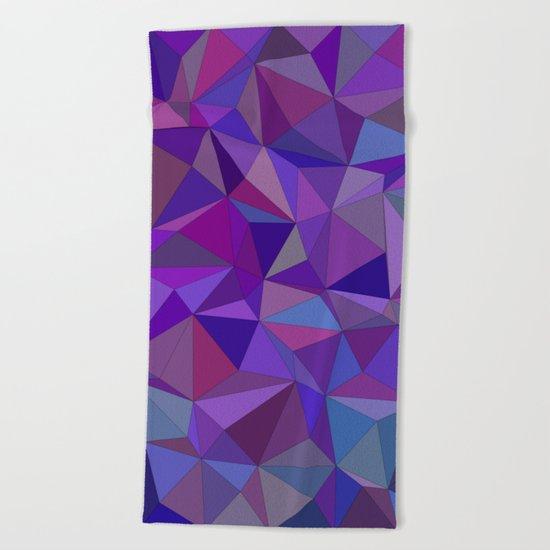 Chaotic purple tiles Beach Towel