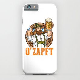 Funny Oktoberfest  - Beer Drinking T-Shirt iPhone Case