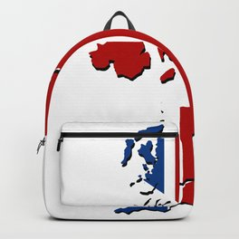 great britain map Backpack