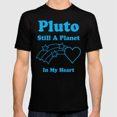 Pluto: Still A Planet In My Heart Black SMALL Mens Fitted Tee