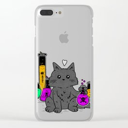 I Think My Cat Wants to Kill Me Clear iPhone Case