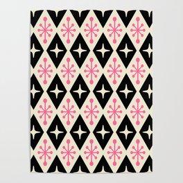 Mid Century Modern Atomic Triangle Pattern 113 Poster