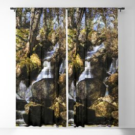 Becky Falls with texture Blackout Curtain