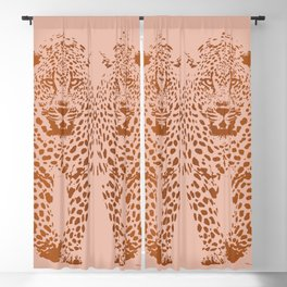 Sunset Blvd Leopard - blush pink and coral original print by Kristen Baker Blackout Curtain