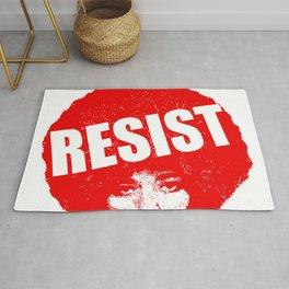 Angela Davis - Resist (red version) Rug