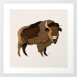 Buffalo Collage Art Print
