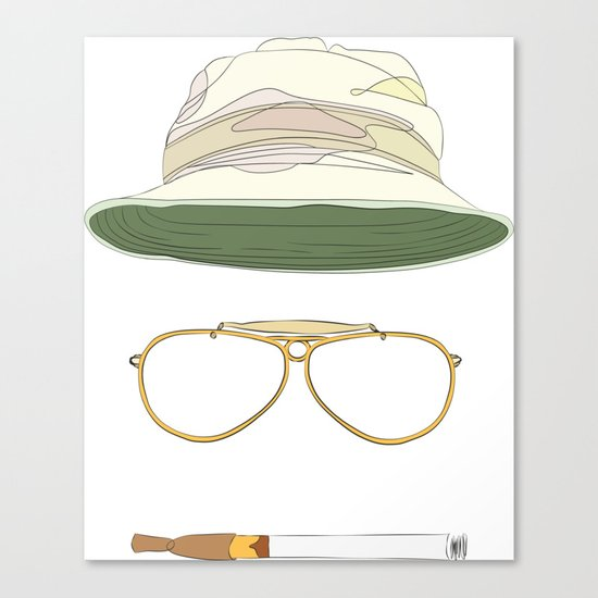 Movie Icons: Fear and Loathing in Las Vegas Canvas Print