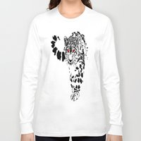 snow leopard Long Sleeve T-shirts featuring Snow Leopard by Shahbab