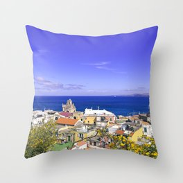The Pearl Of The Mediterranean Sea Throw Pillow