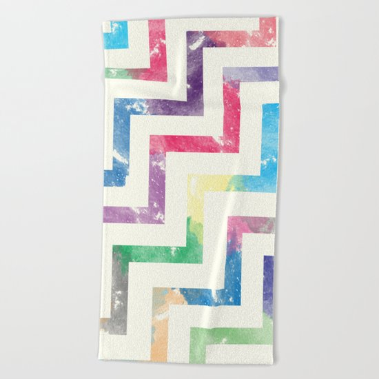 Colorful Geometric VI Beach Towel