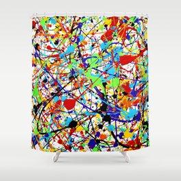 Splat! 1 (Rainbow) Shower Curtain