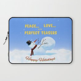 Peace, Love and Perfect Teasers Pilates Holiday art. Laptop Sleeve