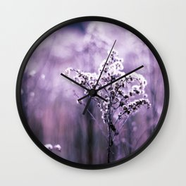 Ultraviolet grasses Wall Clock