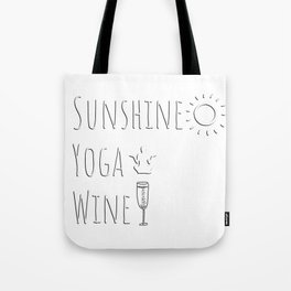 Sunshine Yoga Wine Gifts Tote Bag