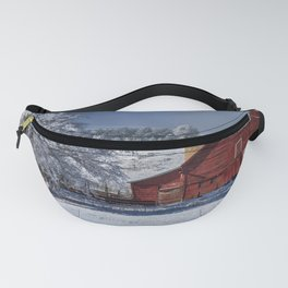 Red On White Fanny Pack