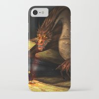 smaug iPhone & iPod Cases featuring Smaug by wolfanita