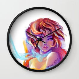 Fox girl Wall Clock