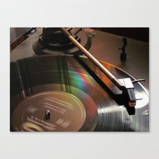 Vinyl Rainbow Canvas Print