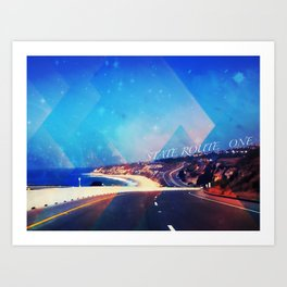 California State Route One Art Print