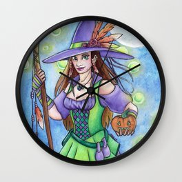 Witch Lights Wall Clock